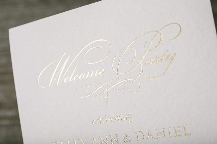 Custom gold foil wedding invitations