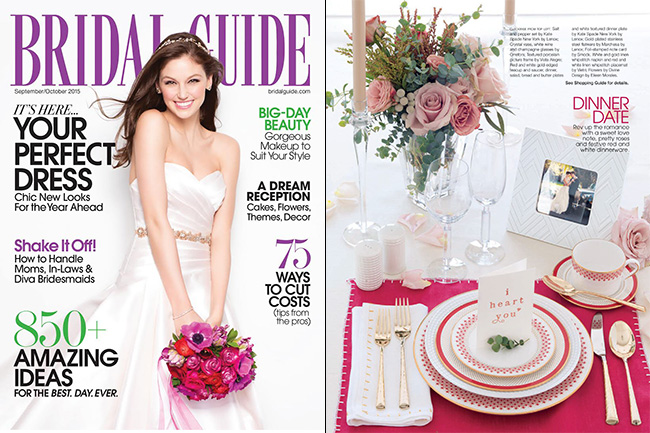 Smock's I heart you card was featured in the September 2015 issue of Bridal Guide magazine