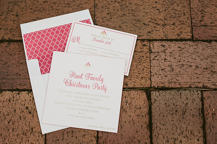 Christmas Party Save The Date Cards.Letterpress Christmas Cards Smock