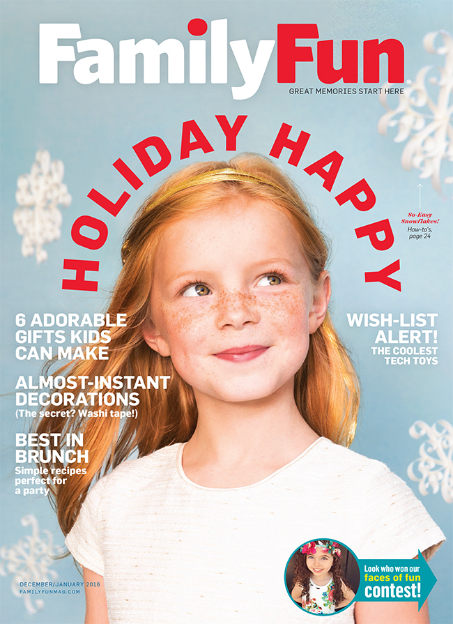 Smock was featured in the December/January 2016 issue of Family Fun magazine