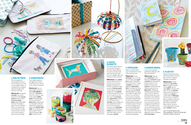 Smock gift wrap + boxes featured in Family Fun magazine