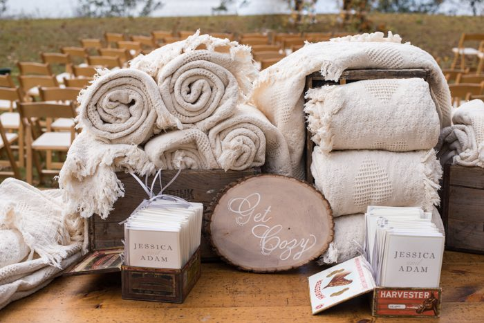 Real wedding at A Private Estate in the Hudson Valley featuring letterpress programs from Smock
