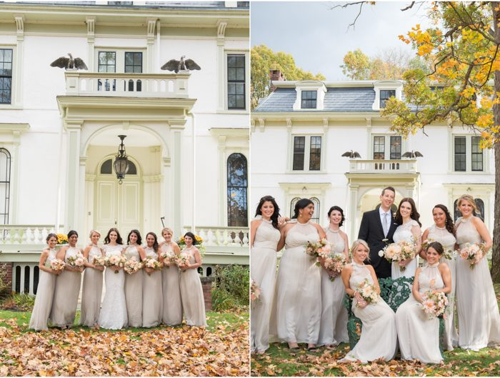 Real Smock wedding at A Private Estate + bridesmaid dresses by Amsale