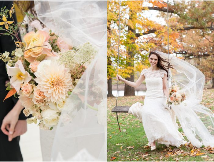 Real Smock wedding at A Private Estate in the Hudson River valley featuring flowers by Saipua
