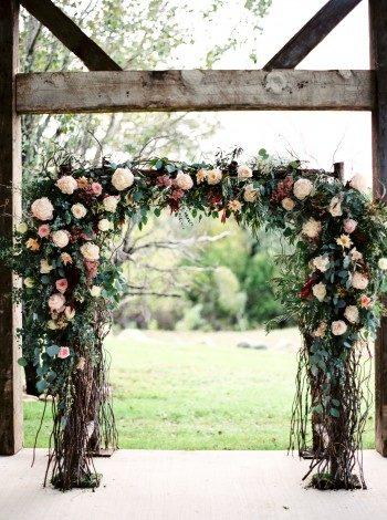 Floral wedding altar