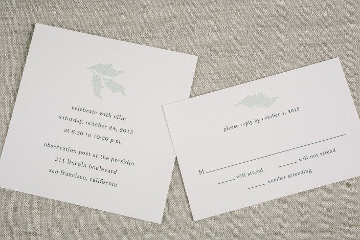 Sophisticated Bat Mitzvah invitations from Smock