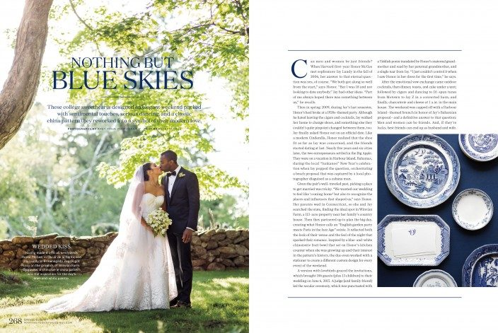 Smock invitations featured in the Martha Stewart Weddings Spring 2016 issue