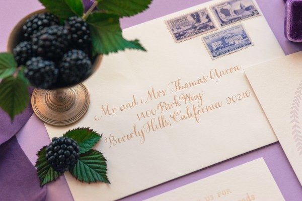 Smock envelopes with calligraphy by Anne Robins