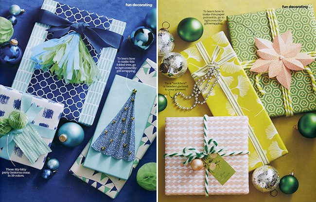Smock's gift wrap was featured in the December 2015 issue of HGTV Magazine