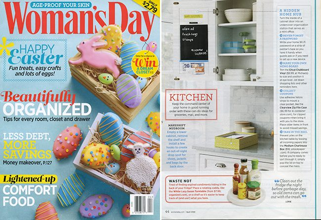 Smock's chartreuse boxes were featured in the April 2016 issue of Woman's Day magazine