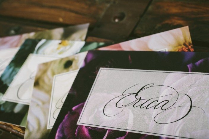 Calligraphy keepsake cards from Ted Clausen