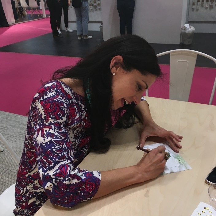 Sarah Hanna in the Smock booth at the 2016 National Stationery Show