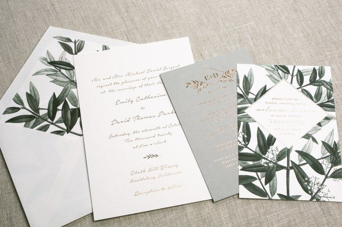 Linden wedding invitation suite from Smock