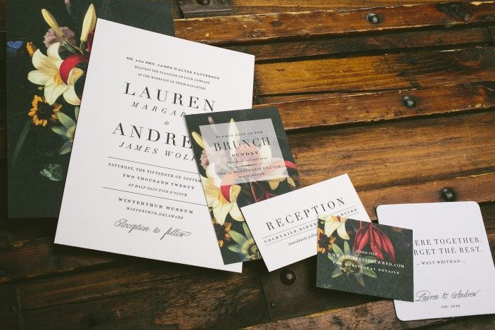 Exeter wedding invitations from Smock
