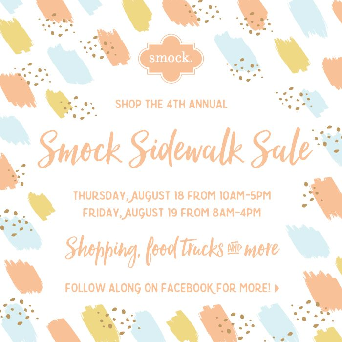 Shop the 2016 Smock Sidewalk Sale