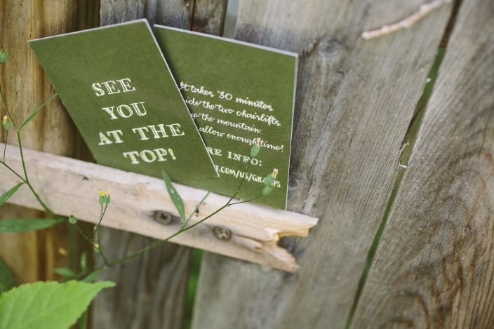 Rustic letterpress wedding invitations from Smock