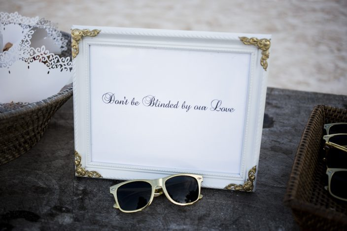 Beach wedding sunglasses