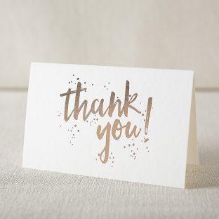 prospect thanks foil stamped cards