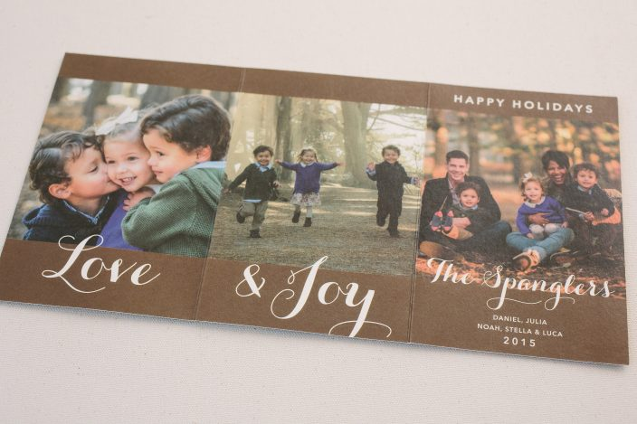 Petite tri-fold holiday cards from Smock