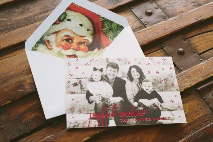Custom foil stamped holiday photo cards from Smock