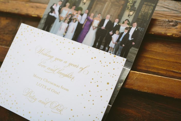 Custom holiday card ideas for newlyweds from Smock