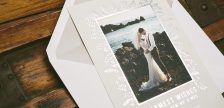 Newlywed holiday photo cards