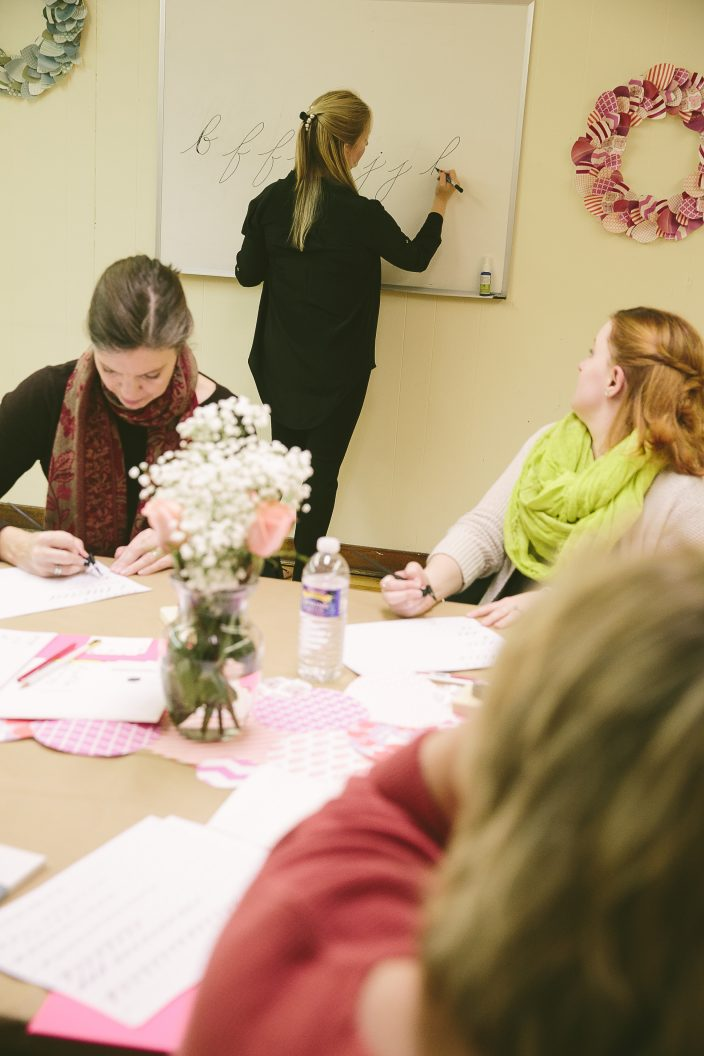 Calligraphy workshops with Virginia Lucas Hart at Smock's 2016 Holiday Shop