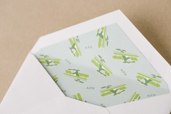 Custom airplane envelope liners