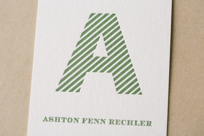 Monogrammed + Letterpress baby announcements from Smock