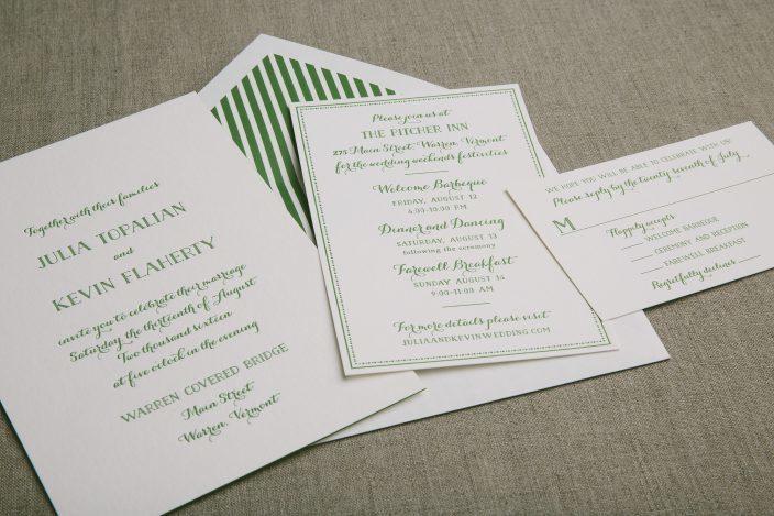letterpress wedding invitations Smock