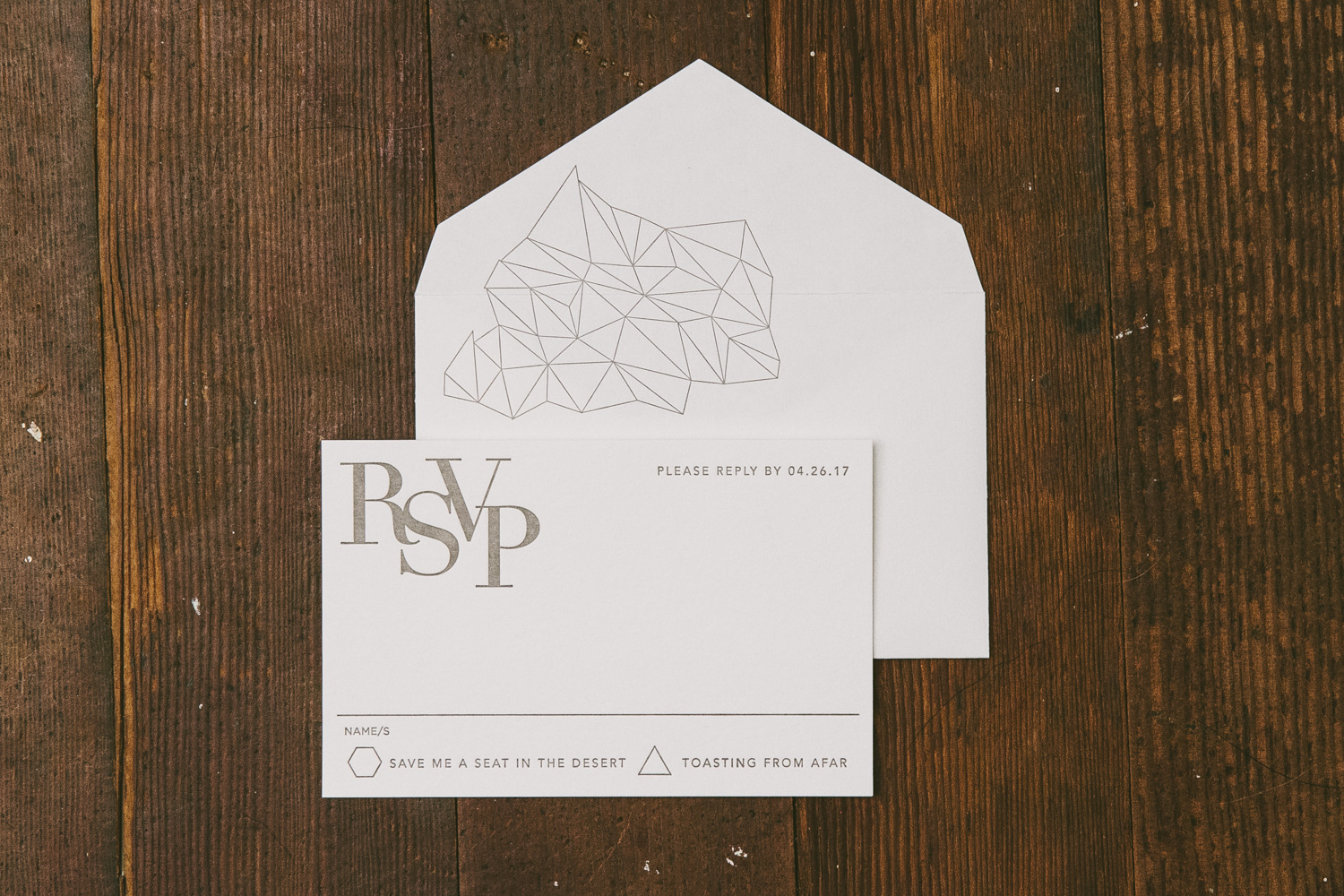 Modern geometric wedding invitations from Smock
