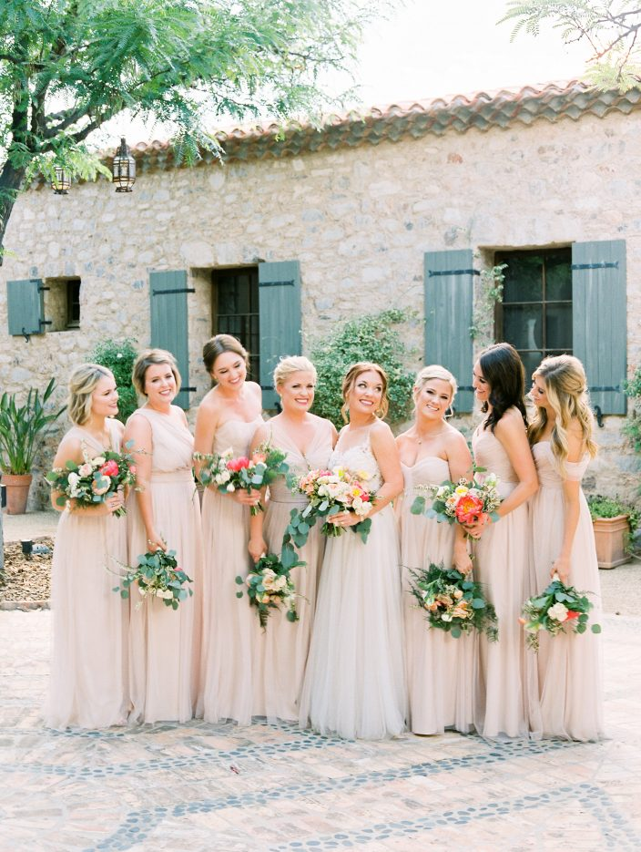 Bridesmaids in blush | Photos by Rachel Solomon Photography