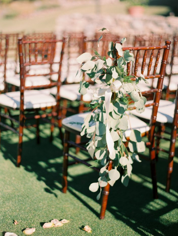 Romantic real wedding ceremony seating at the Silverleaf in Scottsdale, Arizona | Photos by Rachel Solomon Photography