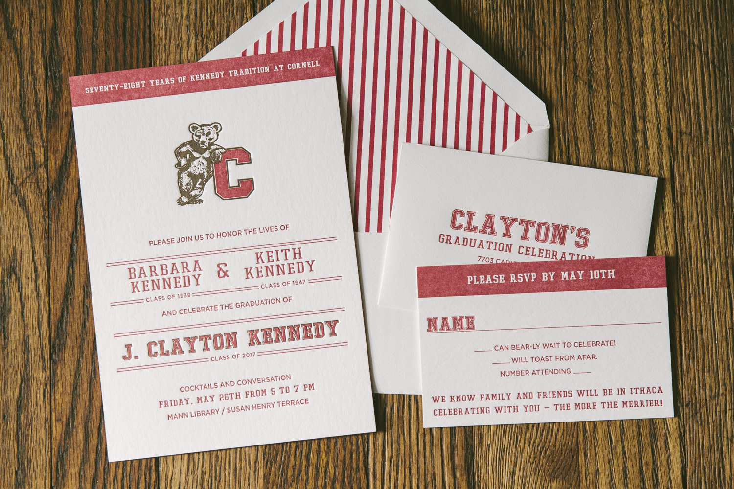 Letterpress graduation invitations smock scholarly letterpress graduation invitations from smock filmwisefo