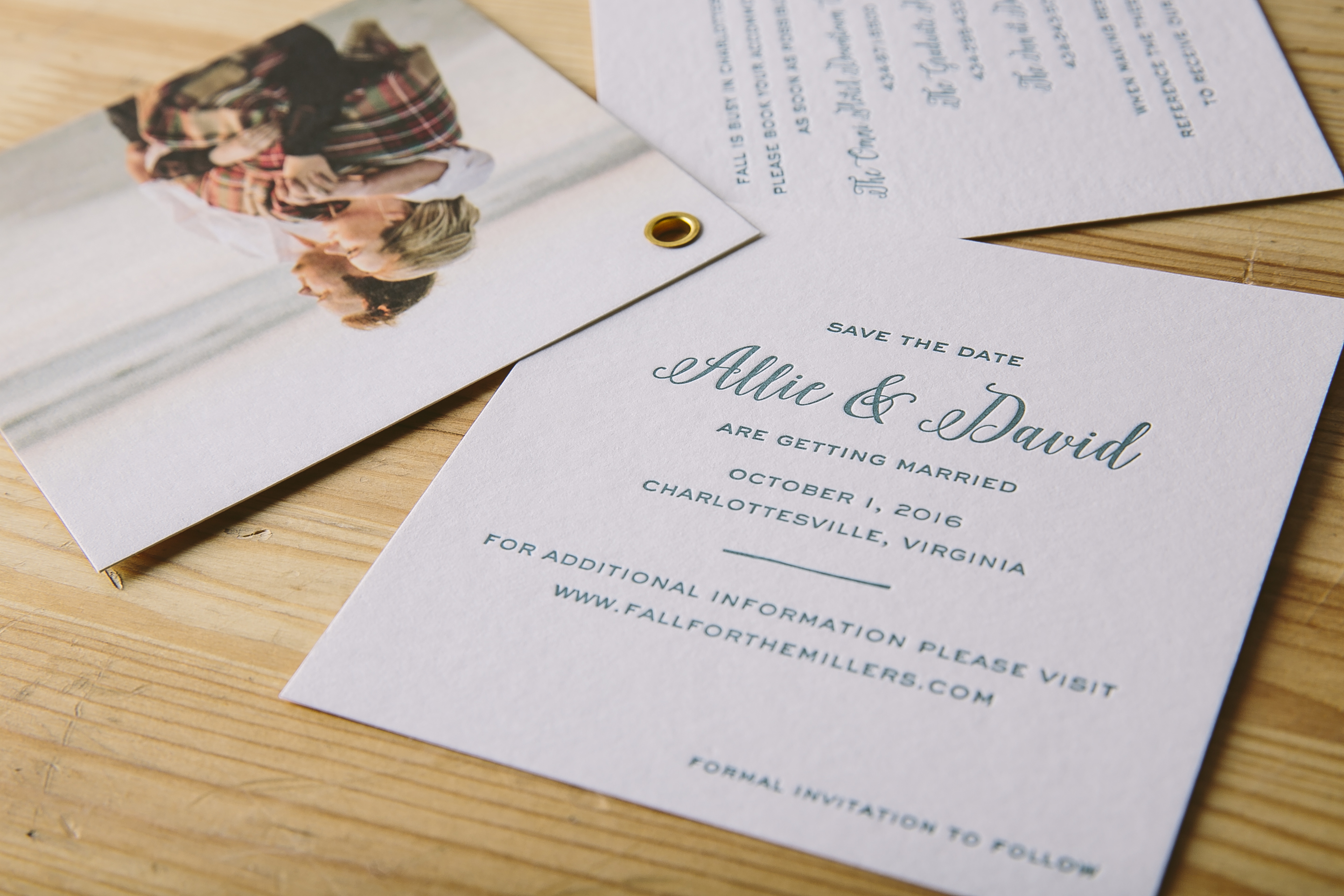Letterpress save the date booklets from Smock