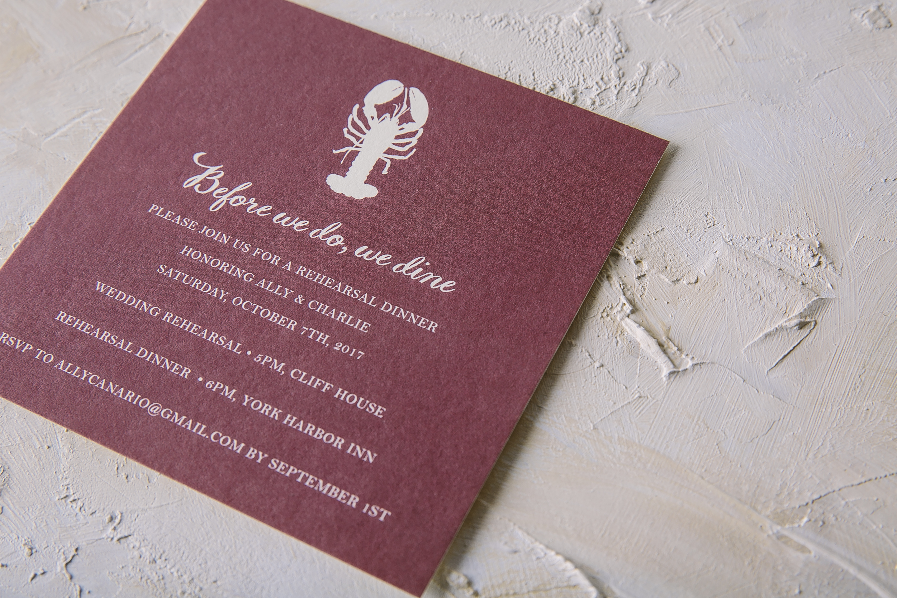 Nautical foil stamped wedding invitations from Smock