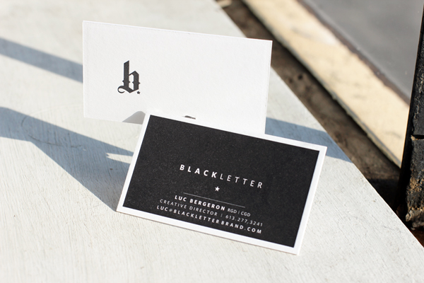 Blackletter business cards boxcar press unique business cards reheart Choice Image