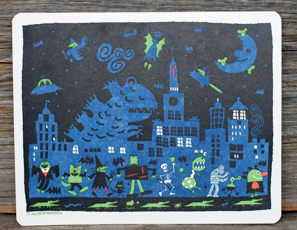 halloween-letterpress-print