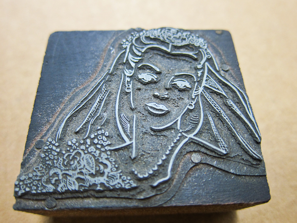 metal cut letterpress plate