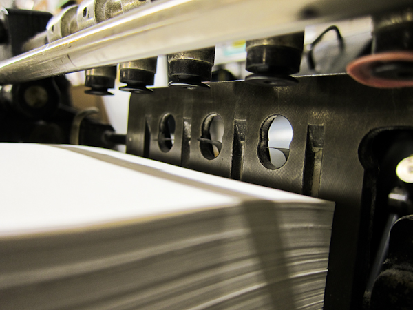 letterpress printing paper feeding