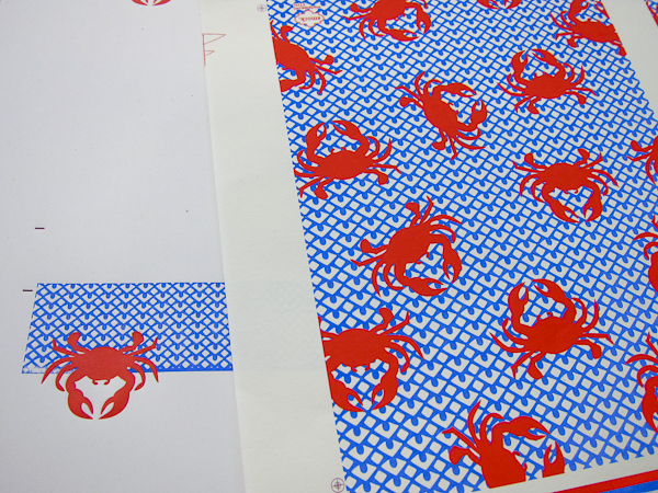 bold graphic envelope liners