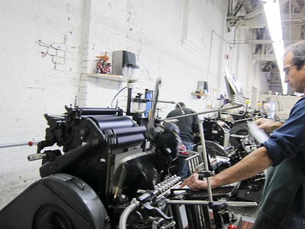 letterpress printers printing