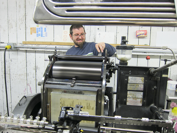 process of letterpress printing