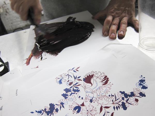 mixing custom ink for letterpress printing