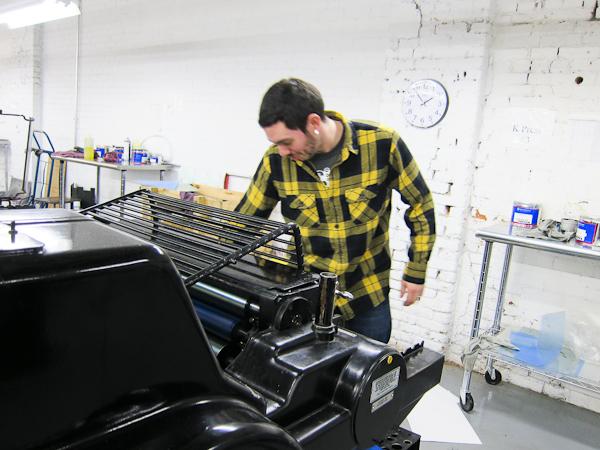 Heidelberg KSBS letterpress printing