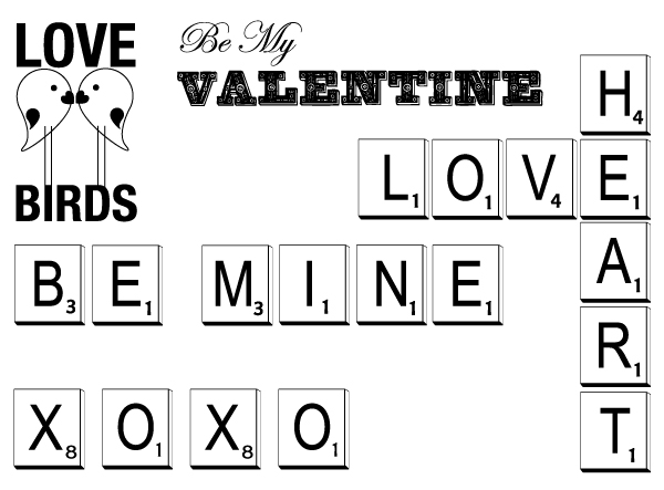 Free February vectors from Boxcar Press