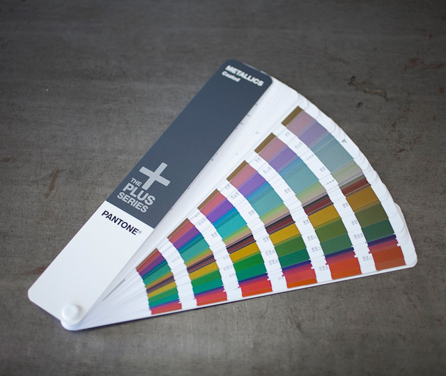Letterpress Printing: Pantone Metalllic Color Guide