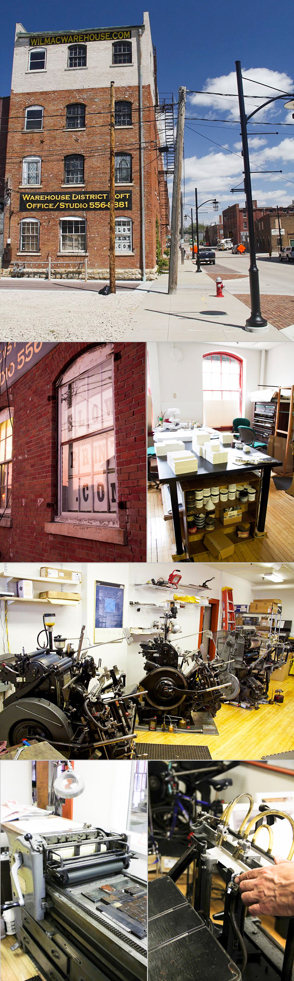 Workspace Spotlight at the Slow Print letterpress shop in Dubuque