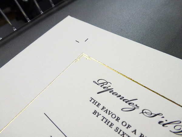 Boxcar Press offers foil stamping a classy way to add shine to your printed pieces.