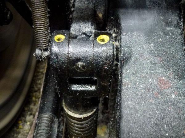 A close up shot of a Heidelberg Windmill at Boxcar Press in Syracuse NY.